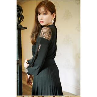 snidel - her lip to Shoulder Lace Knit Dress 小嶋陽菜