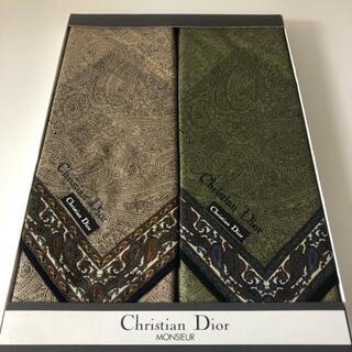 Christian Dior - クリスチャンディオール ハンカチ 2枚セット ペイズリー柄