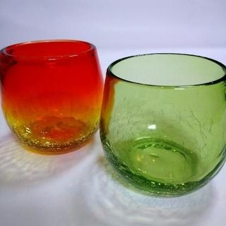 新品 琉球ガラス グラス 2個セット(グラス/カップ)