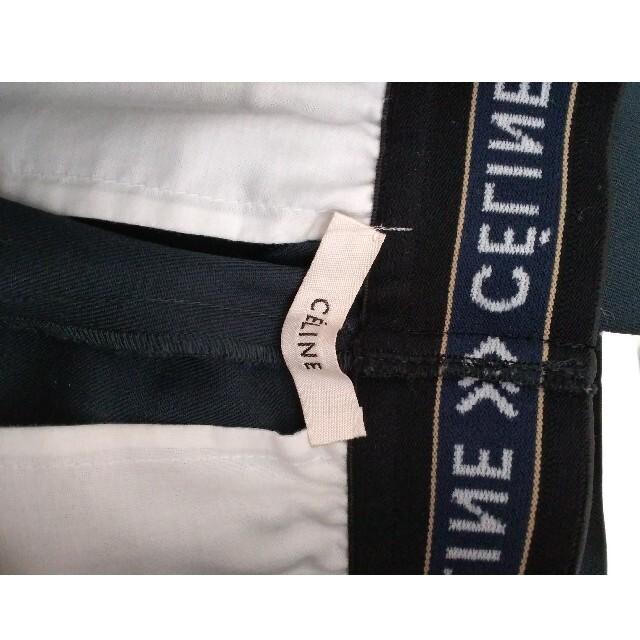 celine(セリーヌ)のセリーヌ CELINE ロゴパンツ ネイビー 試着のみ美品 レディースのパンツ(カジュアルパンツ)の商品写真