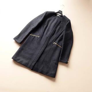 PAULE KA - ■ポールカ■ 36 黒 ゴールドジップ コート PAULEKA