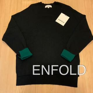 ENFOLD - ENFOLD エンフォルド ニット バイカラー