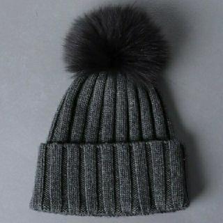 ユナイテッドアローズ(UNITED ARROWS)のUNITED ARROWS  ポンポン リブ ニット帽(ニット帽/ビーニー)