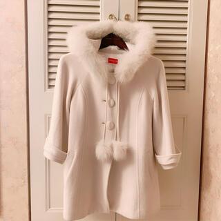 アプワイザーリッシェ(Apuweiser-riche)の白コート(毛皮/ファーコート)