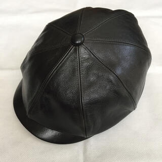 CALEE - 定価19800円!CALEE キャリー 完売 レザー キャスケット 帽子 黒 M