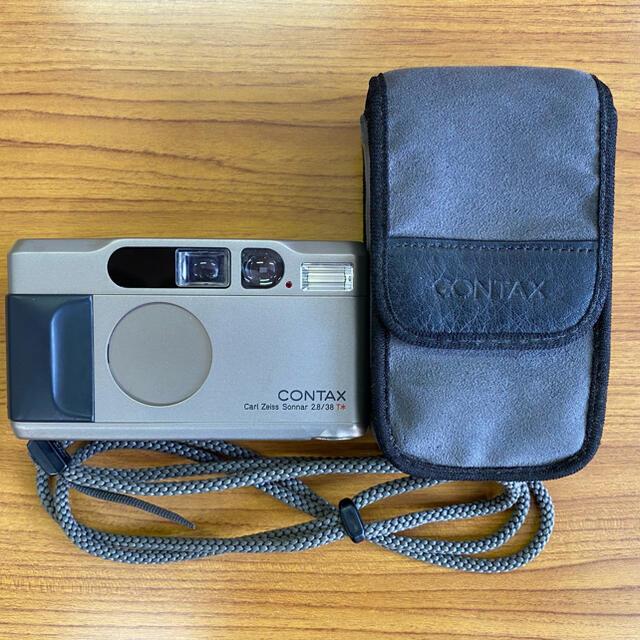 京セラ(キョウセラ)のコンタックスT2 チタンシルバー スマホ/家電/カメラのカメラ(フィルムカメラ)の商品写真