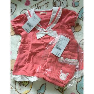クーラクール(coeur a coeur)の新品 クーラクール プルオーバーとショートパンツ 100(Tシャツ/カットソー)