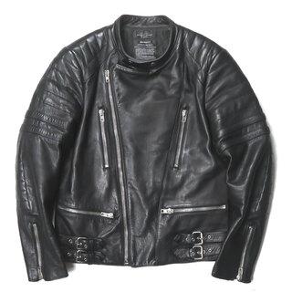アンユーズド(UNUSED)のUNUSED Cow Leather Double Riders Jacket(レザージャケット)
