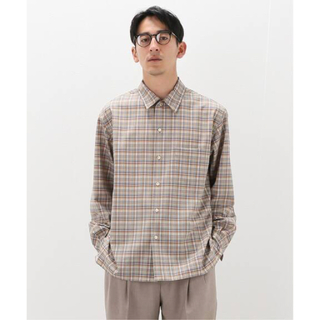 COMOLI - 21SS WASHABLE SUPER LIGHT WOOL CHECK