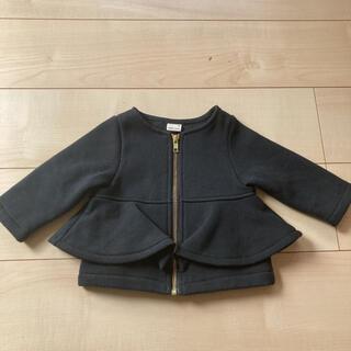 petit main - プティマイン ペプラムジャケット ブルゾン アウター 80