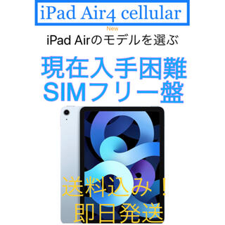 Apple - iPad Air4 64GB cellular  ケース&フィルム付き!