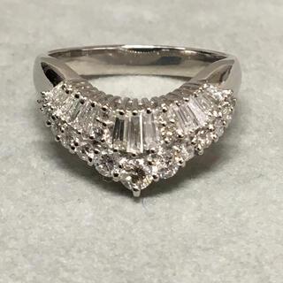 Pt900 0.68ct VS〜SI ダイヤモンド リング 指輪