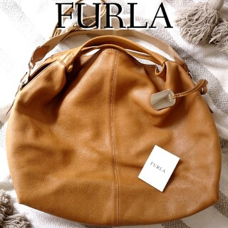 Furla - FURLA フルラ 柔らかオールレザー 2way ショルダー キャメル