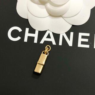 シャネル(CHANEL)の正規品 シャネル ペンダント 金 ココマーク 口紅 リップ ゴールド ネックレス(ネックレス)