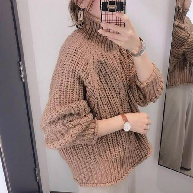 H&M(エイチアンドエム)の今季 チャンキーニット H&M リブニットハイネックセーター レディースのトップス(ニット/セーター)の商品写真
