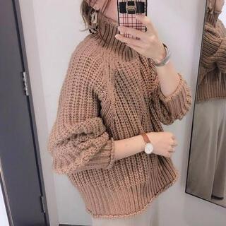 H&M - 今季 チャンキーニット H&M リブニットハイネックセーター