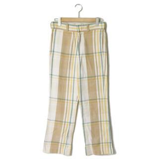 アンユーズド(UNUSED)のUNUSED 19AW check nel pants パンツ メンズ(ワークパンツ/カーゴパンツ)
