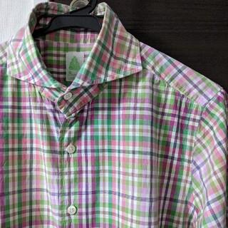 フィナモレ(FINAMORE)のfinamore フィナモレ シャツ メンズ ナポリシャツ サイズ39(シャツ)