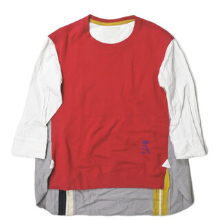 エィス(A)のA スウェットコンビプルオーバーシャツ スウェット レディース(トレーナー/スウェット)