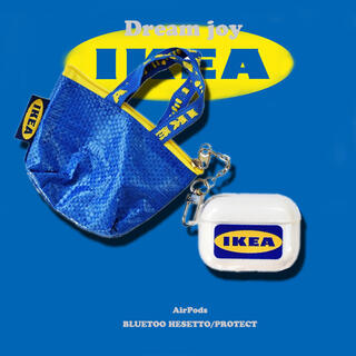イケア(IKEA)の‼️大人気‼️AirPods proケース IKEAミニバッグチャーム付(ヘッドフォン/イヤフォン)