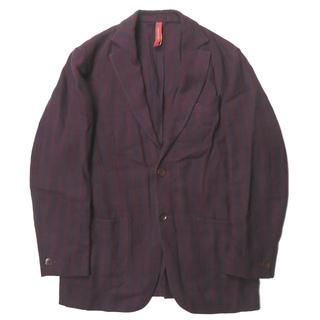エルネスト(ELNEST)のernesto x BEAMS F シャドウストライプ リネン2Bジャケット(テーラードジャケット)