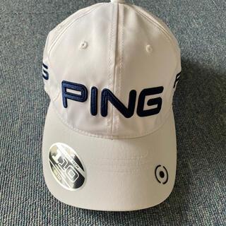 ピン(PING)のping ホワイト キャップ(キャップ)