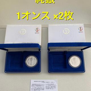 純銀 銀貨 1オンス  × 2枚 プルーフ貨幣 千円銀貨 silver 99.9