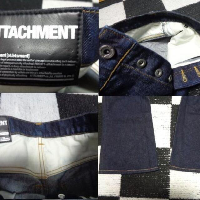 ATTACHIMENT(アタッチメント)の【アタッチメント】2デニムジーンズGパンAttachment美品 メンズのパンツ(デニム/ジーンズ)の商品写真
