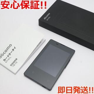 キョウセラ(京セラ)の新品同様 KY-01L カードケータイ ブラック (携帯電話本体)