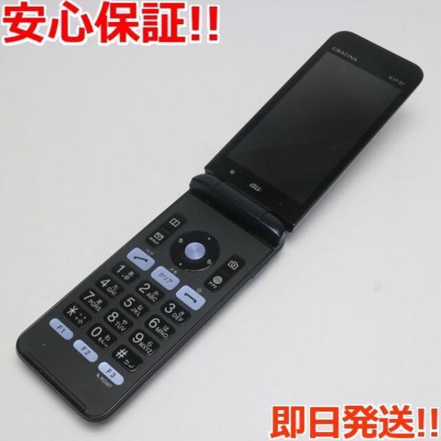 京セラ(キョウセラ)の美品 GRATINA KYF37 ブラック 本体 白ロム スマホ/家電/カメラのスマートフォン/携帯電話(携帯電話本体)の商品写真