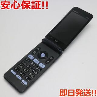 キョウセラ(京セラ)の美品 GRATINA KYF37 ブラック 本体 白ロム(携帯電話本体)