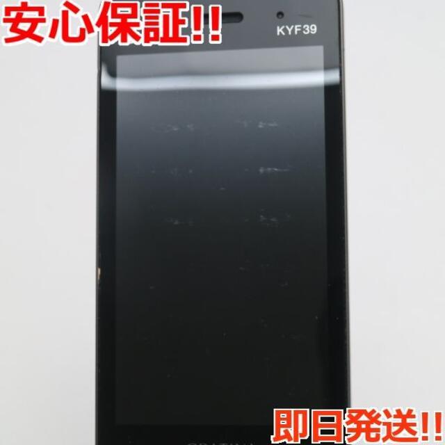 京セラ(キョウセラ)の美品 KYF39 GRATINA ブラック(墨)  スマホ/家電/カメラのスマートフォン/携帯電話(携帯電話本体)の商品写真