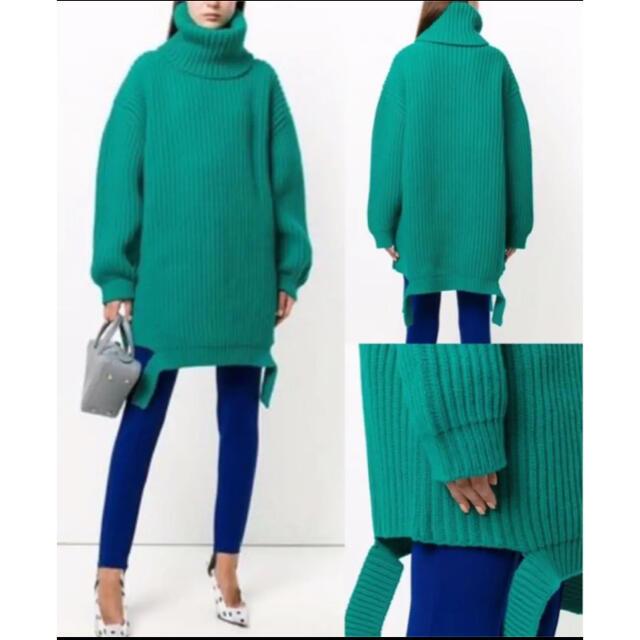 Balenciaga(バレンシアガ)のBALENCIAGA☆タートルネック オーバーサイズ リブニット レディースのトップス(ニット/セーター)の商品写真
