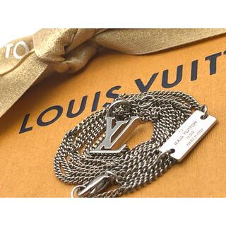 LOUIS VUITTON - LV ルイヴィトン LVロゴ 喜平 ネックレス シルバーカラー