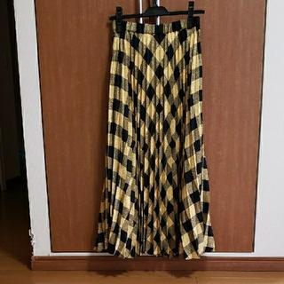 GRACE CONTINENTAL - グレースコンチネンタル グレースクラスラメチェックプリーツスカート