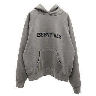 FEAR OF GOD - essentials fog pullover hoodie cement S