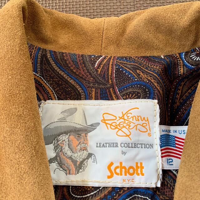 schott(ショット)の早い者勝ち‼️schott ショット フリンジ レザージャケット  レディースのジャケット/アウター(ライダースジャケット)の商品写真