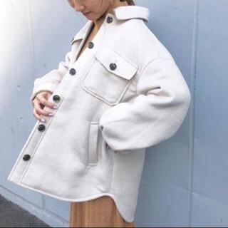 オゾック(OZOC)のOZOC CPO ジャケット コート ナチュラル ベージュ アイボリー(ブルゾン)