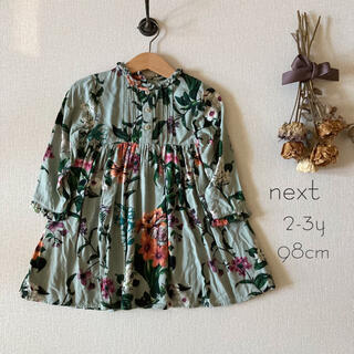 NEXT - イギリスベビー服✧next ネクスト ボタニカルフラワー柄ワンピース*̩̩̥୨୧