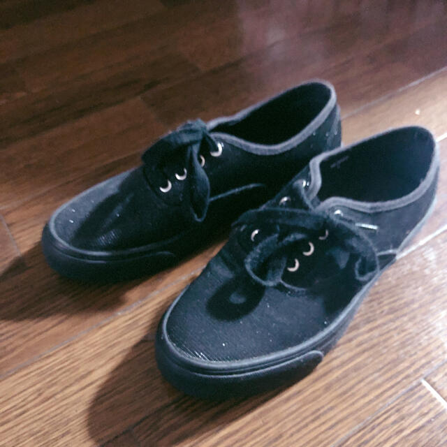 黒ラメスニーカー ブラック  Lサイズ レディースの靴/シューズ(スニーカー)の商品写真