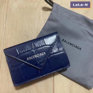 バレンシアガ(Balenciaga)のBALENCIAGA<新品レシート付き>クロコ型ペーパーミニ財布 BP(財布)