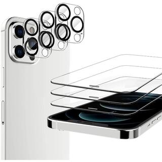 【3+3】YiOne iPhone12Pro Max 用 フィルム (3枚) +(Androidケース)