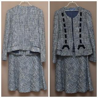 M'S GRACY - エムズグレイシー ノーカラー ジャケット スーツ セット売り 42 美品