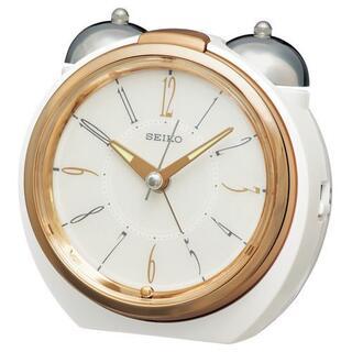 セイコー(SEIKO)の[新品]セイコー KR507W ダンダンベル音アラーム 目覚まし時計(置時計)