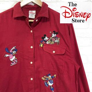 ディズニー(Disney)のDisney Store ディズニー キャラクター刺繍 シャツ ビッグシルエット(シャツ/ブラウス(長袖/七分))