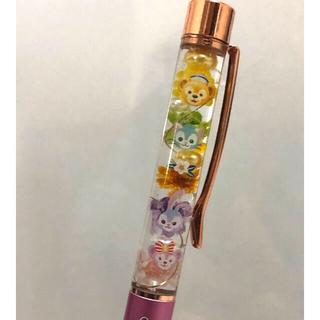ダッフィー(ダッフィー)のハーバリウムボールペン♡ダッフィーフレンズ♡カラフル 花材たっぷり!色変更可能(その他)