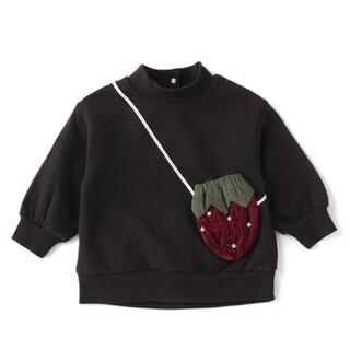 プティマイン(petit main)のプティマイン いちご ポシェット風(Tシャツ/カットソー)