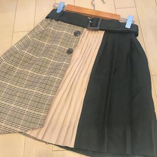 アルシーヴ(archives)のarchives 異素材スカート(ミニスカート)