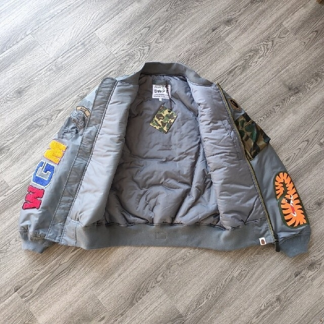 A BATHING APE(アベイシングエイプ)の新品 BAPE X ALPHA SHARK ジャケット メンズのジャケット/アウター(ダウンジャケット)の商品写真