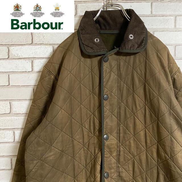 Barbour(バーブァー)の90s 古着 バブアー キルティングコート 稀少 XXS アースカラー メンズのジャケット/アウター(モッズコート)の商品写真